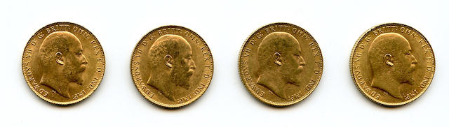 England, Edward VII, Sovereigns, 1906 (4)