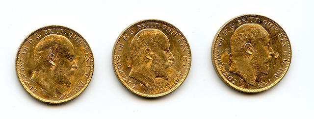 Australia, Edward VII, Sovereigns, 1906-M (3)
