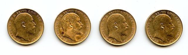 Australia, Edward VII, Sovereigns, 1906-M (4)