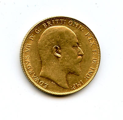 England, Edward VII, Sovereign, 1907