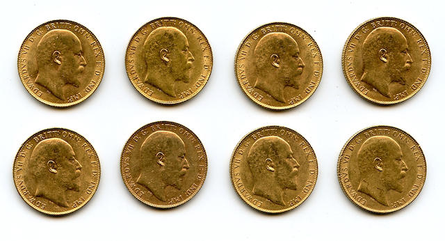 England, Edward VII, Sovereigns, 1907 (8)