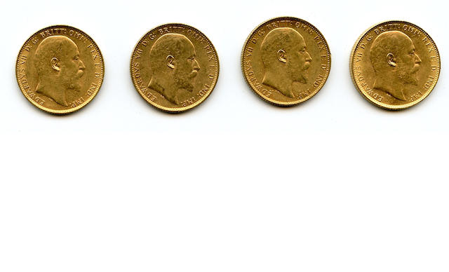 Australia, Edward VII, Sovereigns, 1907-M (4)