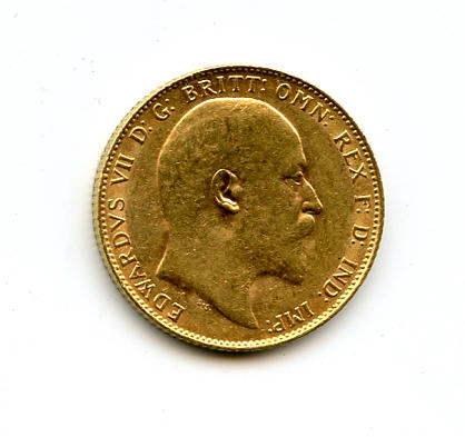 England, Edward VII, Sovereign, 1908
