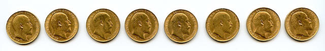 Great Britain, Edward VII, Sovereigns, 1908 (8)