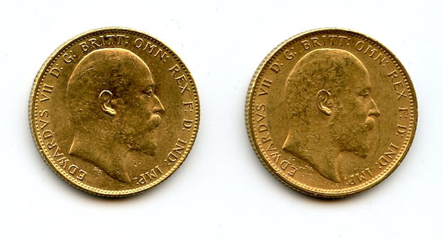 Australia, Edward VII, Sovereign, 1908-S (2)