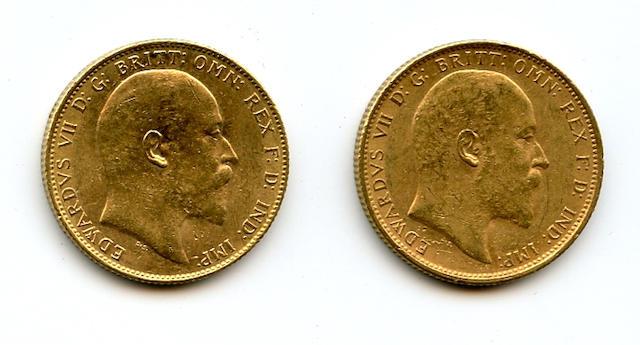 Australia, Edward VII, Sovereign, 1908-S (2)