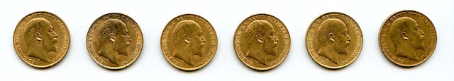 Great Britain, Edward VII, Sovereigns, 1909 (6)