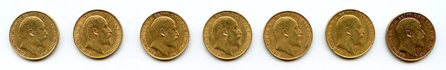England, Edward VII, Sovereigns, 1910 (7)