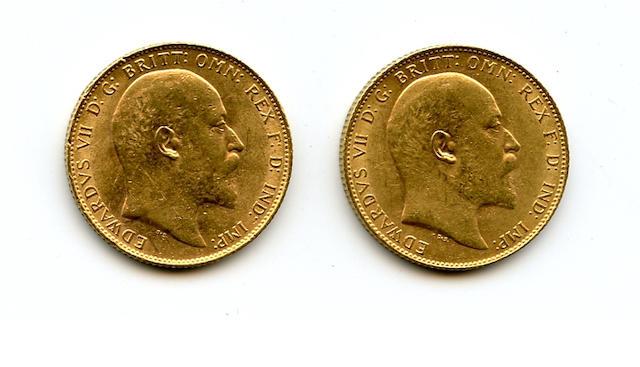England, Edward VII, Sovereigns, 1910 (2)