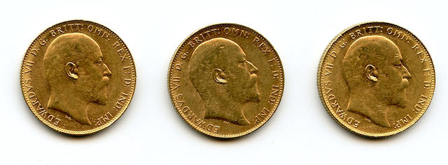 Australia, Edward VII, Sovereigns, 1910-P (3)