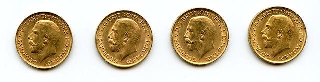 Great Britain, George V, Sovereigns, 1911 (4)