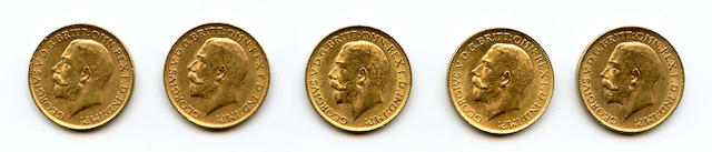 England, George V, Sovereigns, 1911 (5)