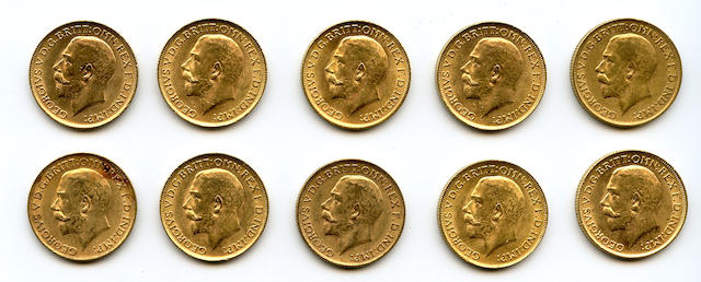 England, George V, Sovereigns, 1911 (10)