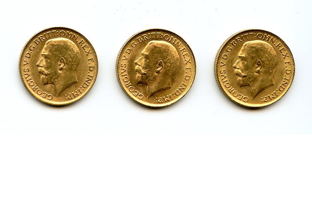 England, George V, Sovereigns, 1911 (3)