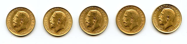 Great Britain, George V, Sovereigns, 1911 (5)