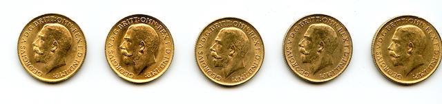 England, George V, Sovereigns, 1911 (5)