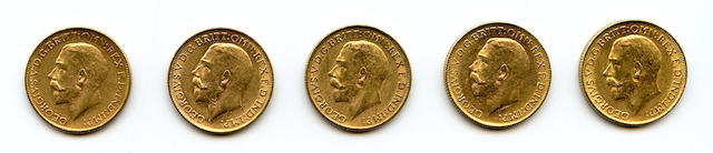 Australia, George V, Sovereigns, 1911-M (5)