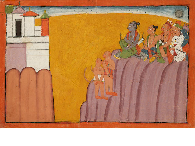 Illustration from the Shangri Ramayana, Bahu/Jammu c. 1700-1710