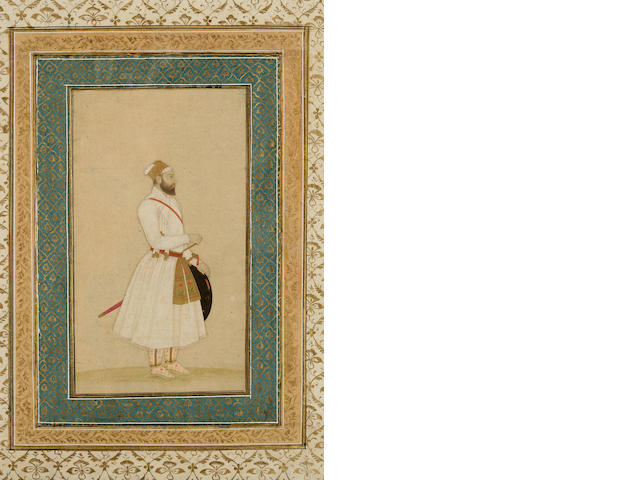 Portrait of a Mughal ruler, opaque watercolor and gold on paper
