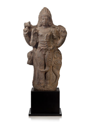 A granite figure of Bhairava Tamil Nadu, circa 12th century