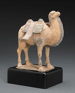 **DAMAGED**A Chinese painted pottery figure of a bactrian camel