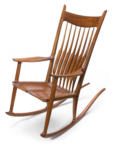 Sam Maloof (American, 1916-2009) Rocking chair, 1986