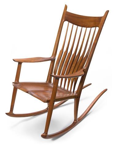 Sam Maloof (American, 1916-2009) Rocking chair, 1986