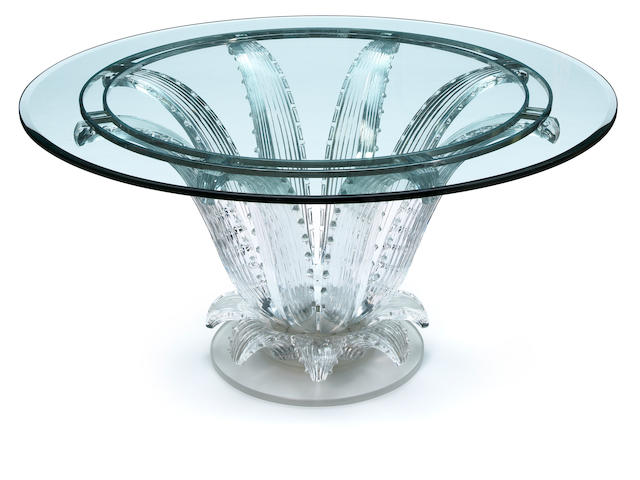 A Marc Lalique Cactus table
