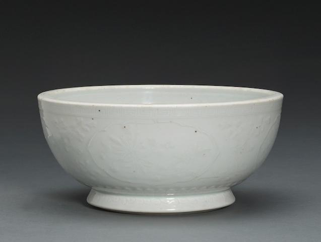 A Dehua porcelain footed bowl 18th century