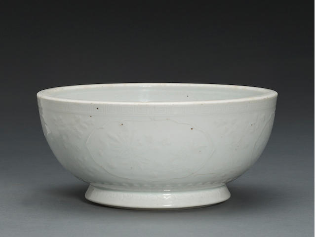 A Dehua porcelain footed bowl 18th century