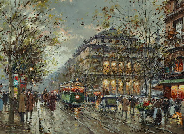Antoine Blanchard (French, 1910-1988) Théâtre du Châtelet 13 x 18in (33 x 45.7cm)