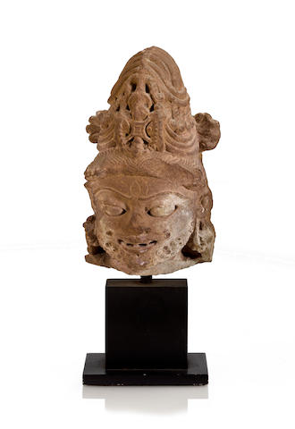 Head of Bhairava Sandstone central India 10th/11th century""