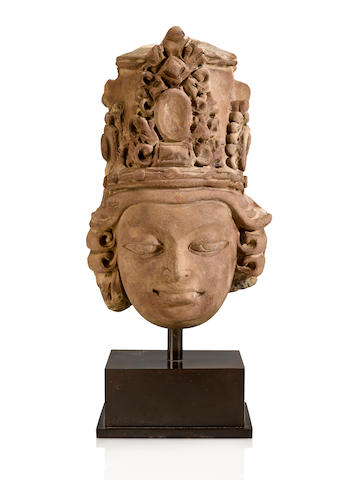 A terracotta dead of a divinity, Eastern India, Gupta period, 6th/7th century