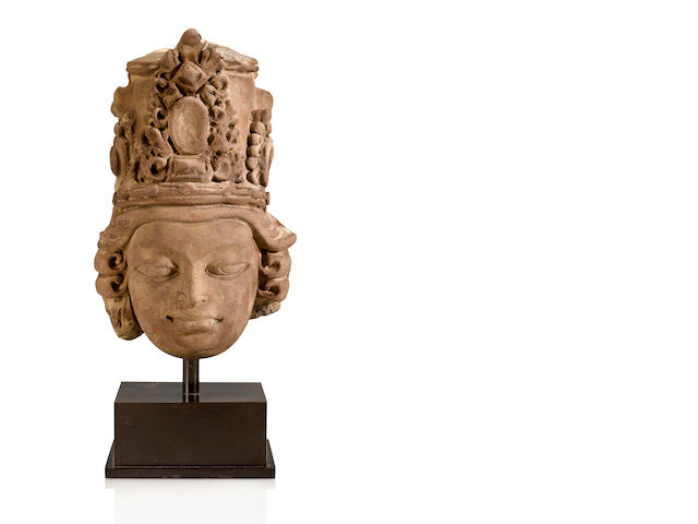 Gupta Terracotta Head of a Divinity, Eastern India, 6th/7th Century