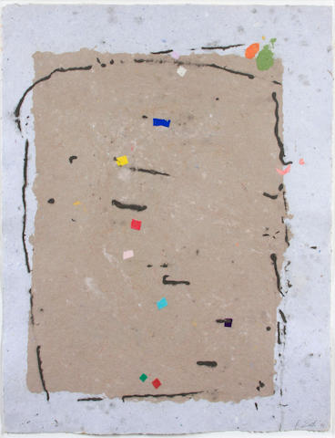 Kikuo Saito, Untitled 53185-8, 1985 signed and dated (lower right) handmade paper 35 ½ x 27 ½in