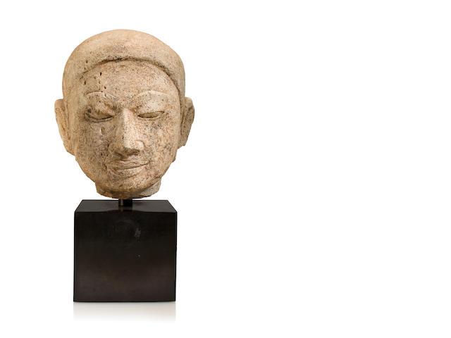 Buddha head Stucco Burma 17th century