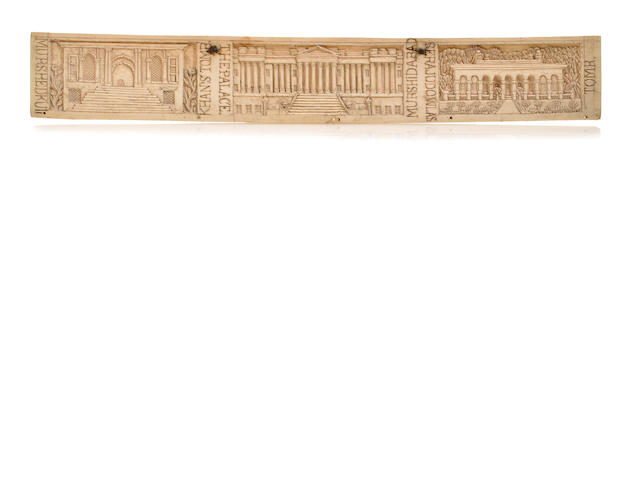Two relief plaques Ivory Nth India early 19th century