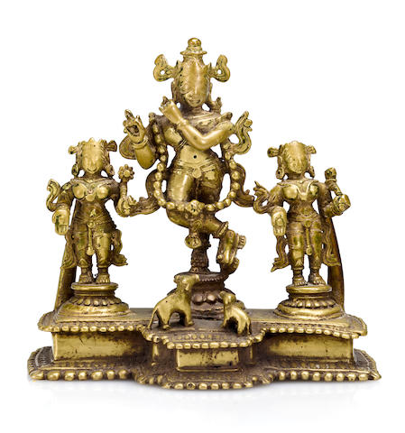 Vishnu shrine Brass Sth India 17th/18th century