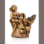 Maternity group Ivory with polychrome decoration Orissa 18th century