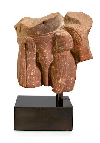 Torso of a Male Divinity, India, Uttar, Pradesh, Mathura, Kushan Dynasty, 2nd/3rd Century