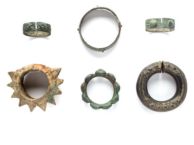 Six Bracelets  Bronze Dong Song 2nd century B.C.