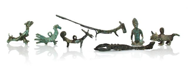 Scorpion and miniature animals Bronze Dong Song 2nd century B.C.