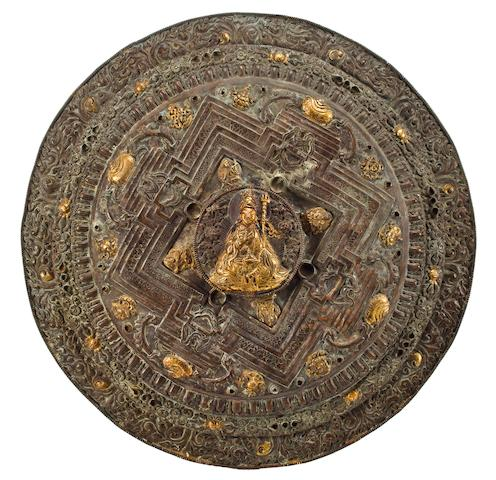 Copper Mandala, Tibet, 19th Century