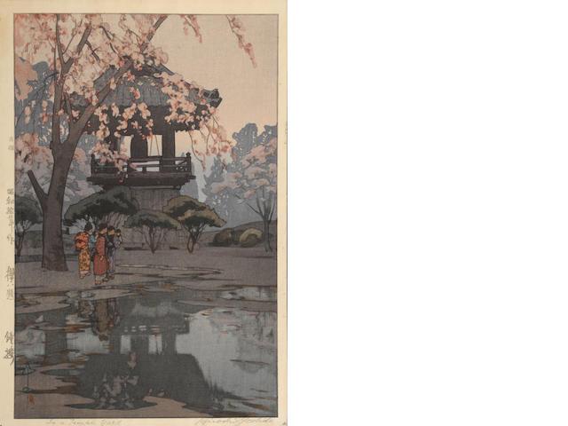 Hiroshi Yoshida (1876-1950)<BR />Four woodcuts