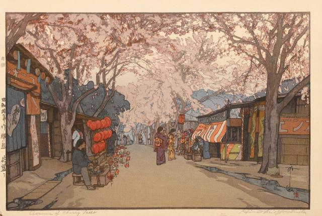 Hiroshi Yoshida (1876-1950)<BR />Three woodcuts