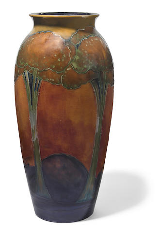 A Moorcroft flambé glazed earthenware Eventide/Moonlit Blue vase 1923-1929, shape 398