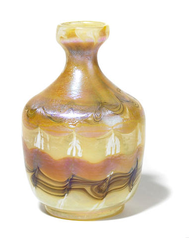 A Tiffany Studios Favrile decorated glass vase circa 1901