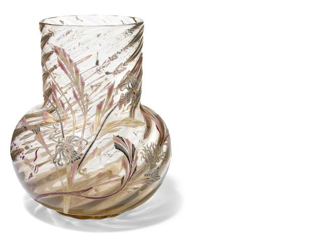 A Galle vase