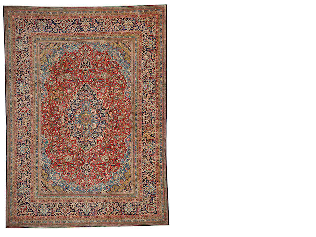 A Kashan carpet Central Persia, size approximately 8ft. 9in. x 12ft.