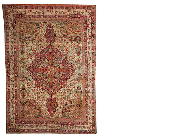 A Lavar Kerman carpet South Central Persia, size approximately 8ft. x 11ft. 8in.